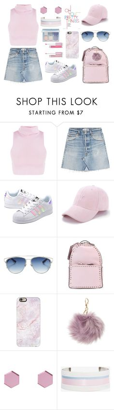 """Candy K"" by ballereyna ❤ liked on Polyvore featuring RE/DONE, adidas Originals, Christian Dior, Valentino, Casetify, Charlotte Russe, Wolf & Moon, Suzywan DELUXE and Anastasia Beverly Hills"