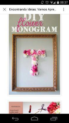Monograma de flores