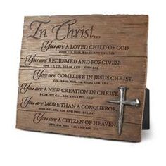 Resin Plaque - In Christ