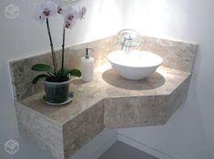 Idéias para decorar seu lar no Habitissimo Washroom Design, Bathroom Interior Design, Simple Bathroom Designs, Bathroom Sink Vanity, Bathroom Makeover, Bathroom Model, Home Entrance Decor, Corner Sink Bathroom, Bathroom Decor