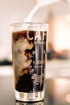 "When you pour chilled milk into coffee and it creates that marble effect :) ""Cafe de Paris by Ben Walker """