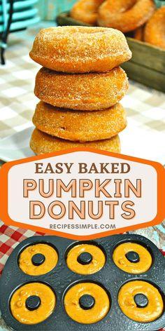 Pumpkin Pie Spice, Pumpkin Puree, Yummy Things To Bake, Homemade Donuts, Donut Glaze, Chocolate Donuts, Baked Donuts, Baked Pumpkin, Perfect Breakfast
