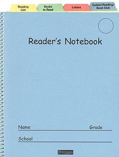 The Reader's Notebook: Grades 3–12 |  We will be using our version of this for 9-12 :>