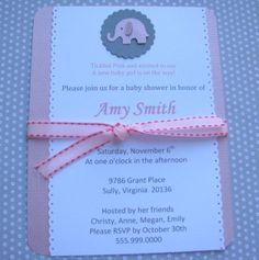 Real Shower: Pink and Grey Elephant Baby Shower
