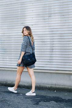 summer effortless style, print mini dress, adidas stan smith
