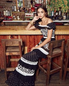 Nicole Miller launches her spring-summer 2017 campaign shot on location in Harlem, New York's El Kallejon Lounge. Model Zhenya Katava wears embellished styles serving bohemian glam vibes. Photographed by Brad Triffit, the brunette poses in looks ranging from floaty maxi dresses, fringed tops and denim coats. A backdrop including liquor bottles and exposed brick serves …