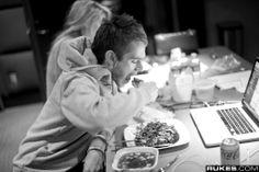 Zedd Eating