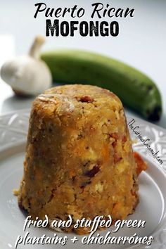 Puerto Rican Mofongo Relleno (Paleo, AIP) — The Curious Coconut - Puerto Rican Mofongo Relleno (fried green plantains and chicharrones stuffed with shredded meat) // - Puerto Rican Dishes, Puerto Rican Cuisine, Puerto Rican Recipes, Mexican Food Recipes, Pasteles Puerto Rico Recipe, Recipe For Mofongo, Mangu Recipe, Puerto Rican Flan, Gastronomia