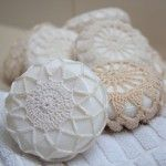 Doily covered soap and 50+ more doily projects!