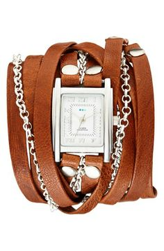 La Mer Collections 'Clifton' Square Wrap Watch, 22mm | Nordstrom