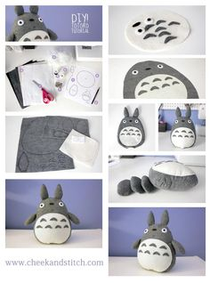 by http://cheekandstitch.com/diy-totoro-plush-tutorial/
