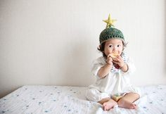 赤ちゃん星帽子。 みしんの子