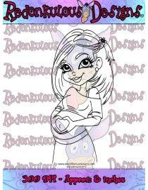 Pregnancy Glow - Digital Stamp