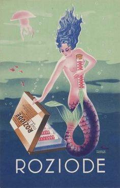 """hoodoothatvoodoo: """" Roziode Artist Unknown c 1940-50s """""""