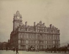 View of the North British Railway Hotel, Edinburgh, c. Old Town Edinburgh, Edinburgh Scotland, Edwardian Era, Vintage Photographs, Liverpool, Big Ben, Britain, City, Building