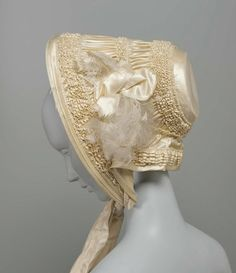 1840 French bride's bonnet (From the Museum of Fine Arts, Boston http://www.mfa.org)