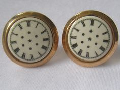 Vtg HICKOK USA Large Clock Face Cuff Links.  by JewelryCapers