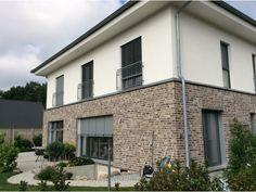 Verblender / Wasserstrich Verblender K444-WDF / Klinker / Fassade / grau anthrazit nuanciert