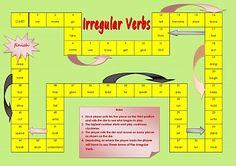 Irregular Verb Board Game Printable-free!
