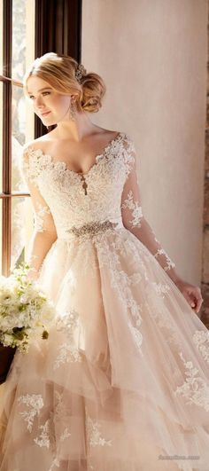139 ideas for fall 2017 wedding dress trends (11)