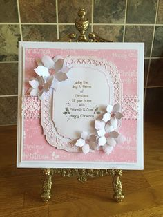 Phills' Crafty Place: Giveaway Card - Christmas Holly in Frosty Blossom