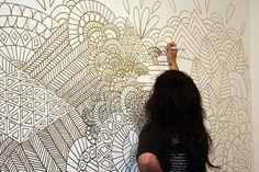 zentangle wall murals - Google Search