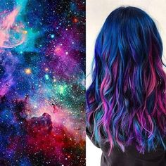 Anniversary Sale 🎉 – Make Your Hair More Beautiful 🎉Fast Hair Dyeing Box🎉 💁♀Help you have new hair color in 10 seconds😮 ✅Safety ✅ Mini ✅ 6 Colors Galaxy Hair Color, Hair Color Purple, Hair Dye Colors, Cool Hair Color, Peacock Hair Color, Funky Hair Colors, Colourful Hair, Plum Color, Mermaid Hair Colors