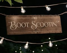 Boot Scootin Dance Floor Sign  Handmade rustic chic Boot Scootin sign for the wedding reception dance floor at your urban, western, woodland,