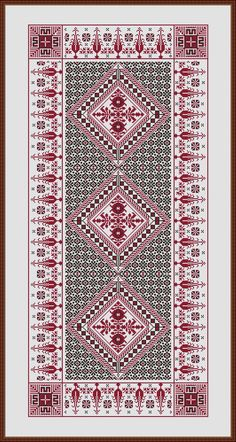 Tiny Cross Stitch, Cat Cross Stitches, Cross Stitch Borders, Cross Stitch Designs, Cross Stitching, Cross Stitch Embroidery, Cross Stitch Patterns, Crochet Patterns, Palestinian Embroidery