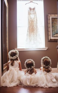 Adorable Shabby Chic Flower Girls | Little Miss Creative on @knotsvilla