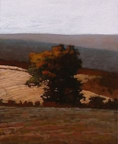 'Near Pullman' by American painter Marc Bohne (b.1955). Oil on panel, 10 x 8 in. via the artist's site