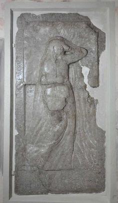 Kieś (Cēsis) - kościół św. Jana Chrzciciela. Płyta nagrobna Anny z Wrzosowic po konserwacji. Fot. Krzysztof Jurków Europe