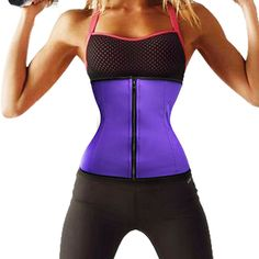 BRABIC Women's Waist Trainer Zipper Rubber Underbust Workout Cincher Corset (3XL Fits 34.2-35.8Inch Waistline, Purple). Great for reshaping post pregnancy tummy and comfortable to wear all day and improves your posture for an elegant look. Classic Zipper Desige For easy on and off ,it's flexible and durable, as soft as plastic bones, can bend easily but recover quickly to origin. It shapes the tummy & defines your waistline. Higher rise to provide optimal coverage for every day...