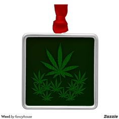 Weed Metal Ornament