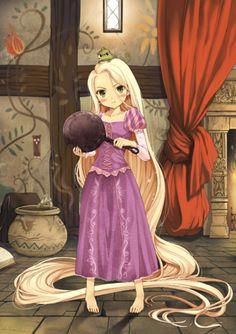 Anime Rapunzel *o* I like the anime and Tangled