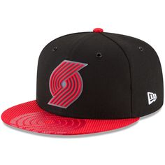 best sneakers 566b5 ab2ce Portland Trail Blazers New Era Team Color On-Court 9FIFTY Snapback  Adjustable Hat - Black