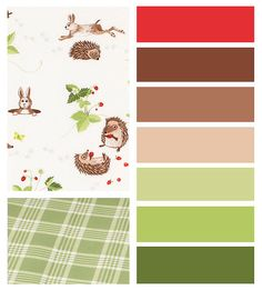 IKEA VANDRING sheets and color scheme with rabbits and hedgehogs
