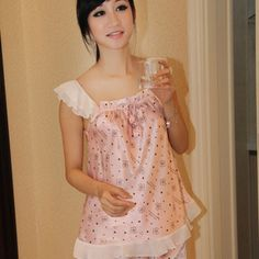 Lady Lace Pajamas Suit in Chiffon - BuyTrends.com