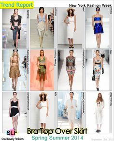 Bra Top in a Skirt Ensemble #Fashion Trend for Spring Summer 2014 #Spring2014 #trends