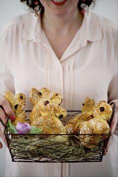 coniglietti pasquali Stuffed Mushrooms, Vegetables, Food, Hoods, Vegetable Recipes, Meals, Stuff Mushrooms, Veggies
