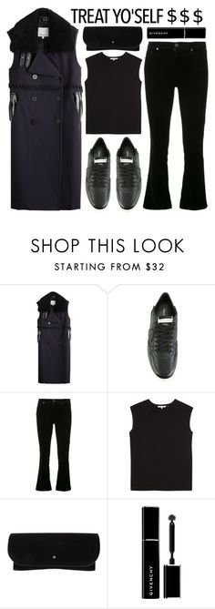 """""""darker"""" by foundlostme ❤ liked on Polyvore featuring 3.1 Phillip Lim, Philippe Model, AG Adriano Goldschmied, Helmut Lang, Linda Farrow, Givenchy, allblack and treatyoself"""