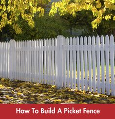 Design A Fence Online Diy guide how to build a picket fence online garden design a picket fence can really compliment the architecture of your home summer workwithnaturefo