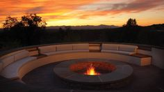 Enjoy the sunset by the roaring fire at the Four Seasons Santa Fe.