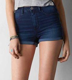 Shorts a la cintura, mezclilla| American Eagle Outfitters