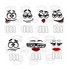 SVG - M&M Faces Set - Ornament Design - Christmas Ornament - Candy Faces - M and M - MnM - SVG Bundle