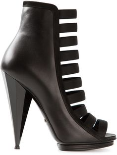 Gucci Black Strappy Ankle Boots €795 Spring 2014 #Shoes #Heels