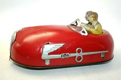 1930's Tin Litho Bumper Car Wind-Up Toy. Courtesy of eBay Seller Toy Claus