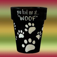 Dog+or+Cat+Paws+Flower+Pot+Color+of+Your+Choice+by+DesignsByDesa,+$15.00