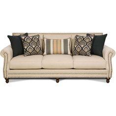 "Oatfield 93"" Oatmeal Upholstered Sofa"