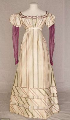 Dress, early 1820's, Augusta Auctions